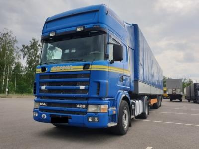 Scania, 124L, 2004, 1600000, 20 т., 12000 см3, 600, Сцепка Scania 124L, 2004г.в. + KRONE 2008г.в....